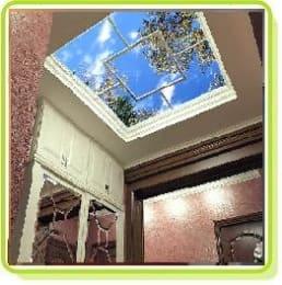 Фальш-окна с подсветкой потолочные