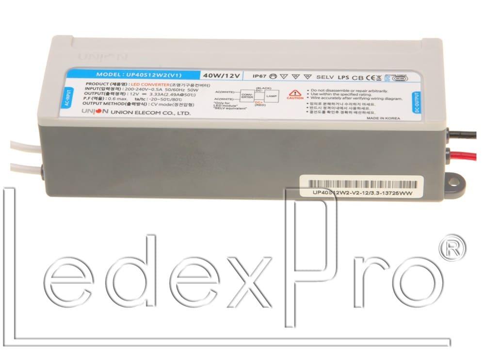 Блок питания герметичный 12В 40Вт IP68 (UP40S12W2(V1))